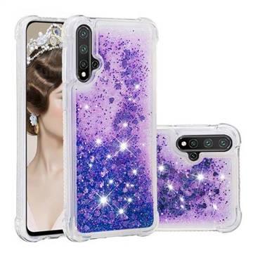 Dynamic Liquid Glitter Sand Quicksand Star TPU Case for Huawei Nova 5 / Nova 5 Pro - Purple