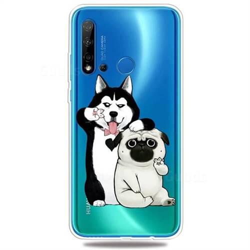 Selfie Dog Clear Varnish Soft Phone Back Cover for Huawei nova 5i