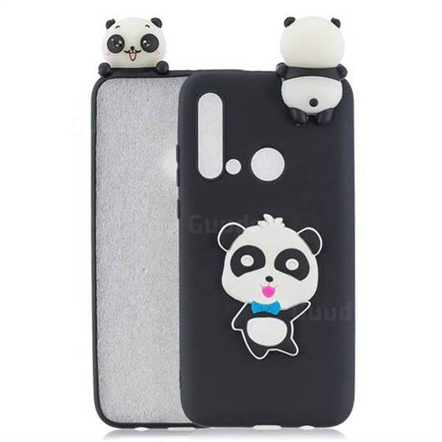Blue Bow Panda Soft 3D Climbing Doll Soft Case for Huawei nova 5i
