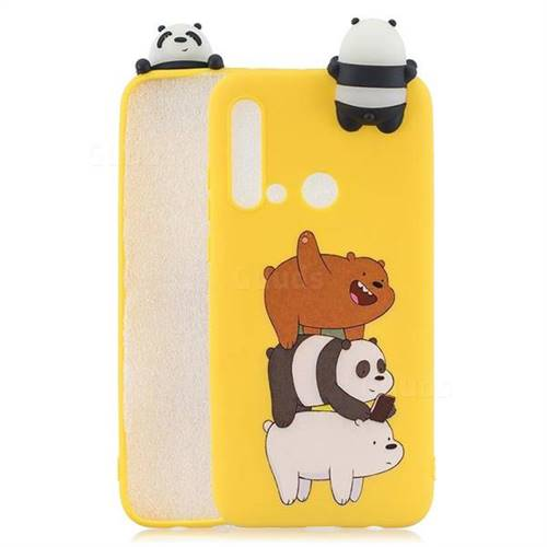 Striped Bear Soft 3D Climbing Doll Soft Case for Huawei nova 5i