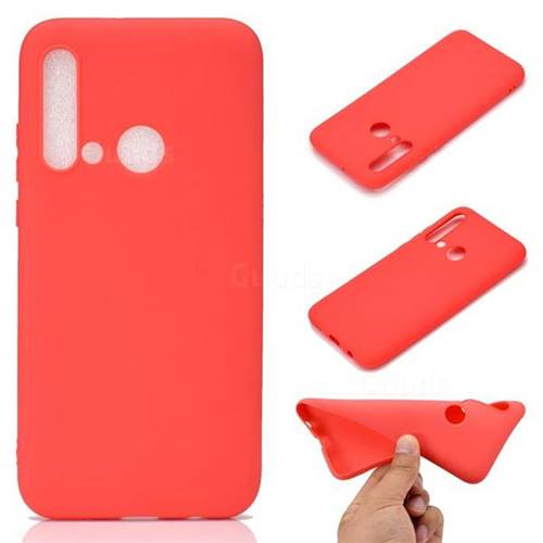 Candy Soft TPU Back Cover for Huawei nova 5i - Red
