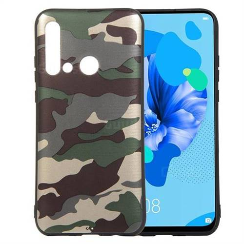 Camouflage Soft TPU Back Cover for Huawei nova 5i - Gold Green