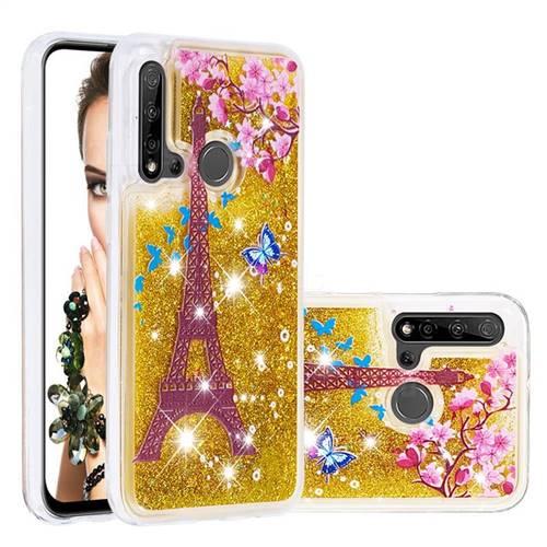 Golden Tower Dynamic Liquid Glitter Quicksand Soft TPU Case for Huawei nova 5i