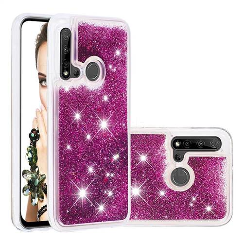 Dynamic Liquid Glitter Quicksand Sequins TPU Phone Case for Huawei nova 5i - Purple