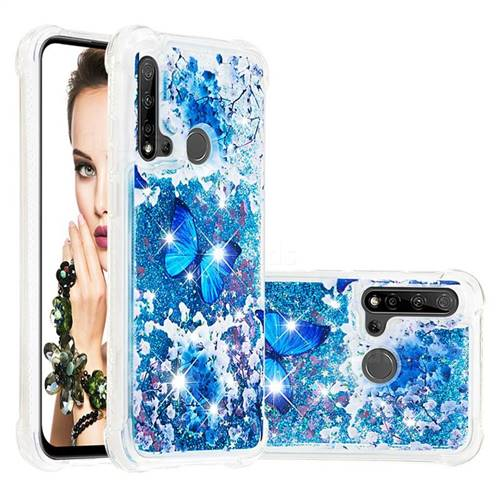 Flower Butterfly Dynamic Liquid Glitter Sand Quicksand Star TPU Case for Huawei nova 5i