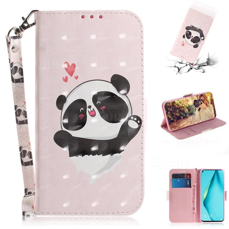 Heart Cat 3D Painted Leather Wallet Phone Case for Huawei nova 7i