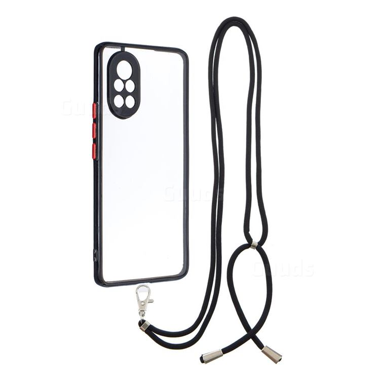Necklace Cross-body Lanyard Strap Cord Phone Case Cover for Huawei nova 8 - Black