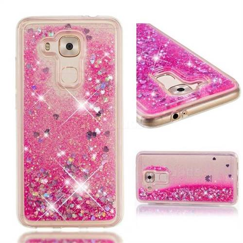 Dynamic Liquid Glitter Quicksand Sequins TPU Phone Case for Huawei Nova Plus - Rose