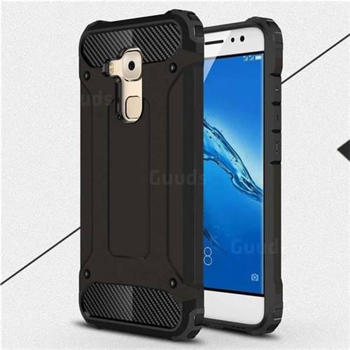 King Kong Armor Premium Shockproof Dual Layer Rugged Hard Cover for Huawei Nova Plus - Black Gold