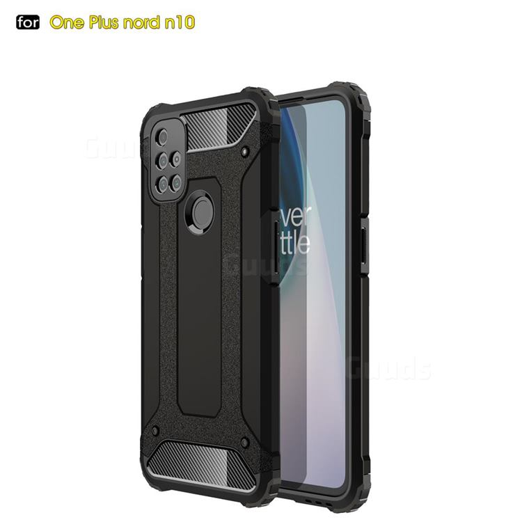 King Kong Armor Premium Shockproof Dual Layer Rugged Hard Cover for OnePlus Nord N10 5G - Black Gold