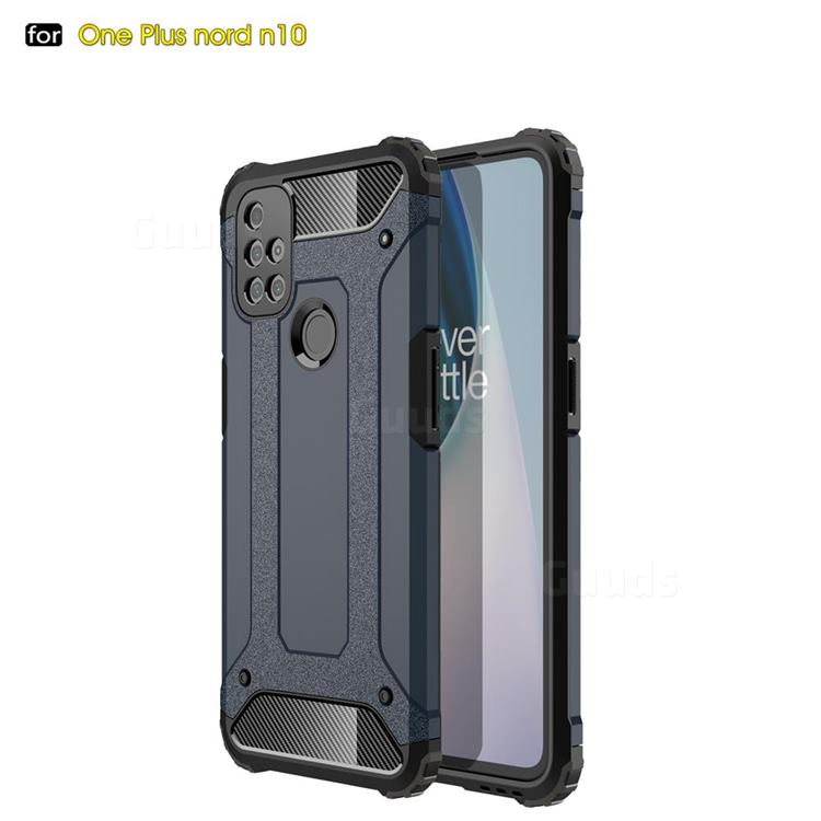 King Kong Armor Premium Shockproof Dual Layer Rugged Hard Cover for OnePlus Nord N10 5G - Navy