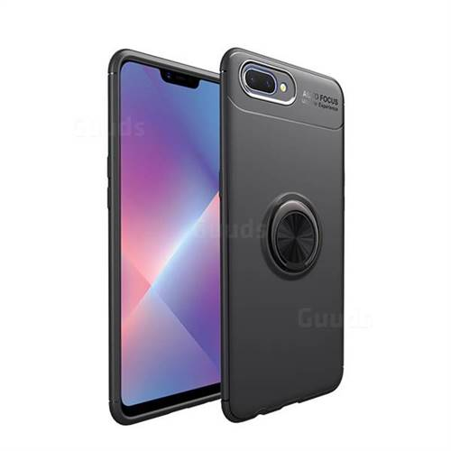 buy online b4440 79c05 Auto Focus Invisible Ring Holder Soft Phone Case for Oppo A3s (Oppo A5) -  Black - Oppo A3s(A5) Cases - Guuds