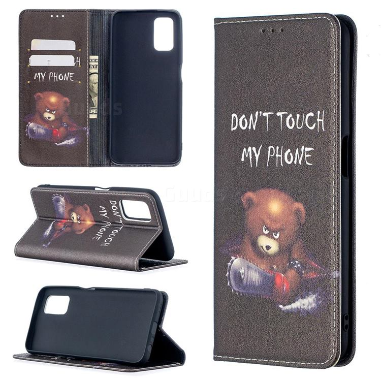 Chainsaw Bear Slim Magnetic Attraction Wallet Flip Cover for Oppo A52