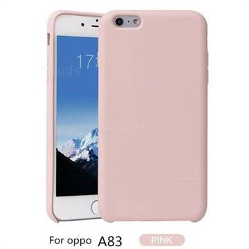 new styles 8b3b2 330f6 Howmak Slim Liquid Silicone Rubber Shockproof Phone Case Cover for Oppo A83  - Pink