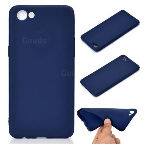 Candy Soft TPU Back Cover for Oppo A83 - Blue