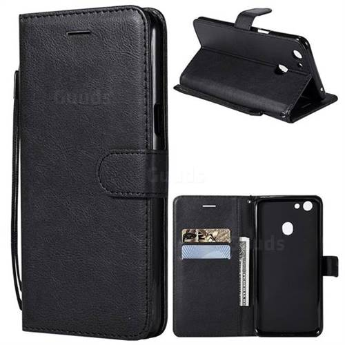 size 40 b3241 1e4c9 Retro Greek Classic Smooth PU Leather Wallet Phone Case for Oppo F5 - Black  - Leather Case - Guuds