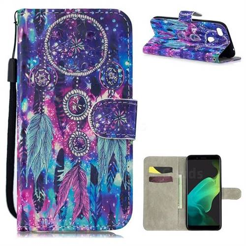 Star Wind Chimes 3D Painted Leather Wallet Phone Case for Oppo F5