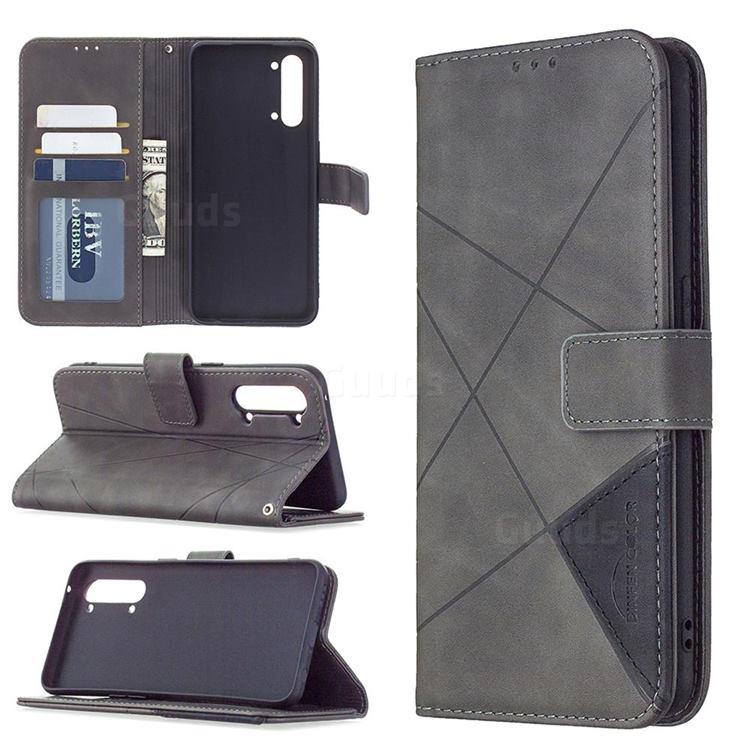 Binfen Color BF05 Prismatic Slim Wallet Flip Cover for Oppo Find X2 Lite - Gray