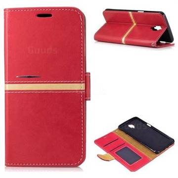 sale retailer c69d4 e89a5 Luxury Elegant PU Leather Wallet Case for OnePlus 3T 3 - Red