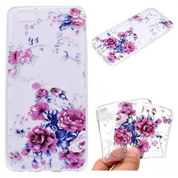 Peony Super Clear Soft TPU Back Cover for OnePlus 5