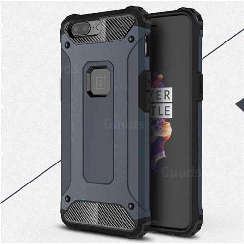 King Kong Armor Premium Shockproof Dual Layer Rugged Hard Cover for OnePlus 5 - Navy