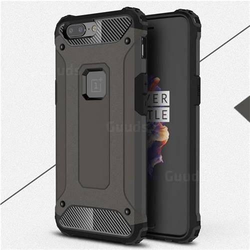 King Kong Armor Premium Shockproof Dual Layer Rugged Hard Cover for OnePlus 5 - Bronze
