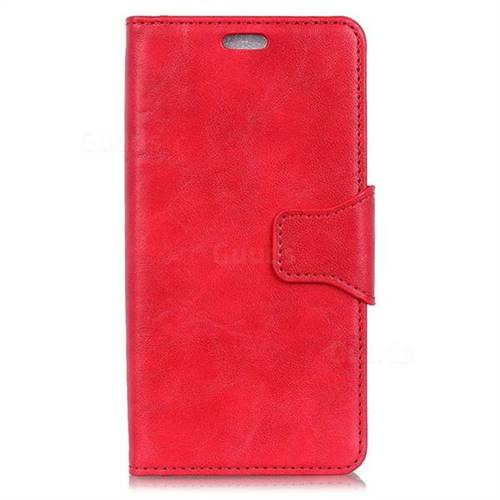 new product 67147 baeb1 MURREN Luxury Crazy Horse PU Leather Wallet Phone Case for OnePlus 5 - Red
