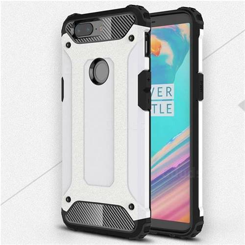 competitive price 00a86 1adc9 King Kong Armor Premium Shockproof Dual Layer Rugged Hard Cover for OnePlus  5T - White
