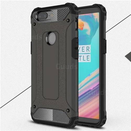 King Kong Armor Premium Shockproof Dual Layer Rugged Hard Cover for OnePlus 5T - Bronze