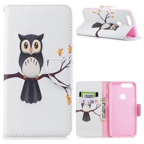 Owl on Tree Leather Wallet Case for OnePlus 5T