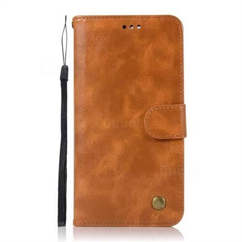 reputable site 266ea 1de20 Luxury Retro Leather Wallet Case for OnePlus 5T - Golden