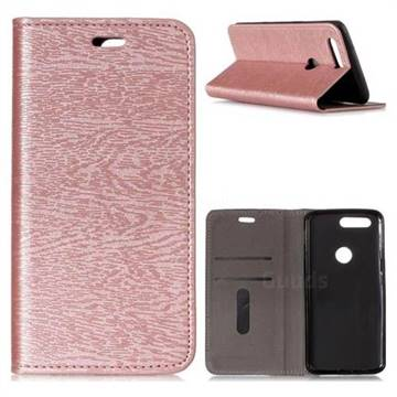 official photos d844d 0d354 Tree Bark Pattern Automatic suction Leather Wallet Case for OnePlus 5T -  Rose Gold