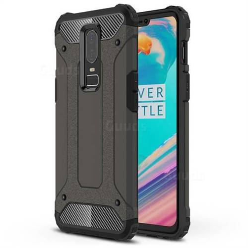 King Kong Armor Premium Shockproof Dual Layer Rugged Hard Cover for OnePlus 6 - Bronze
