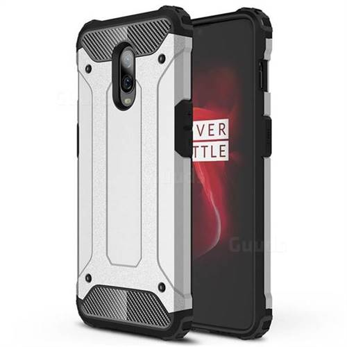 King Kong Armor Premium Shockproof Dual Layer Rugged Hard Cover for OnePlus 6T - Technology Silver