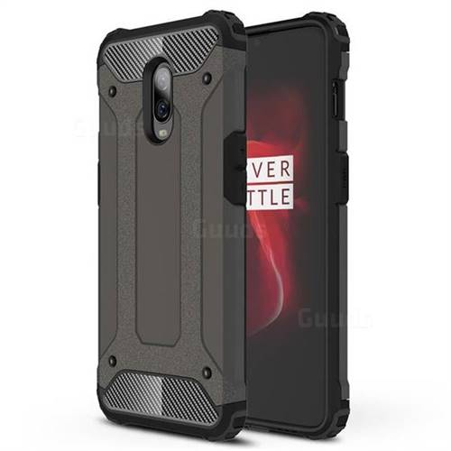 King Kong Armor Premium Shockproof Dual Layer Rugged Hard Cover for OnePlus 6T - Bronze