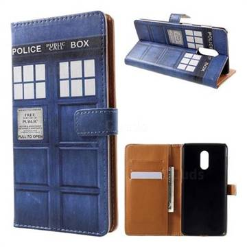 lowest price cf349 a1940 Police Box Leather Wallet Case for OnePlus 6T