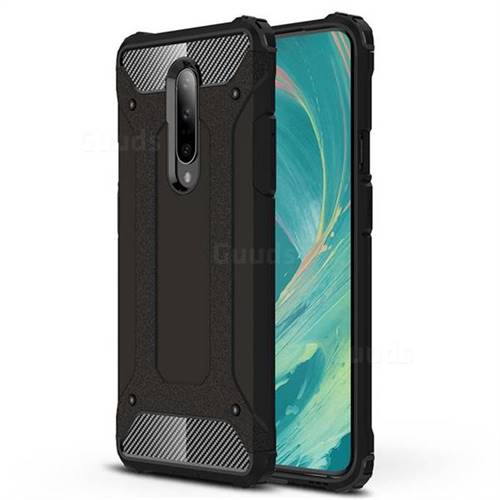 King Kong Armor Premium Shockproof Dual Layer Rugged Hard Cover for OnePlus 7 - Black Gold