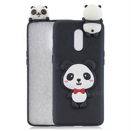 Red Bow Panda Soft 3D Climbing Doll Soft Case for OnePlus 7