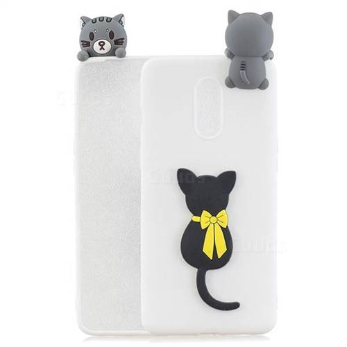 Little Black Cat Soft 3D Climbing Doll Soft Case for OnePlus 7