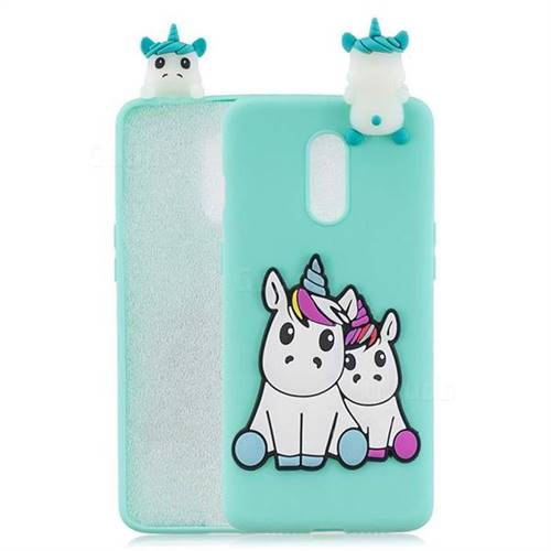 Couple Unicorn Soft 3D Climbing Doll Soft Case for OnePlus 7