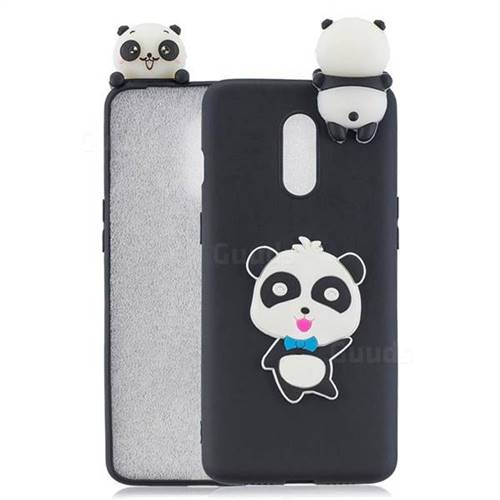 Blue Bow Panda Soft 3D Climbing Doll Soft Case for OnePlus 7