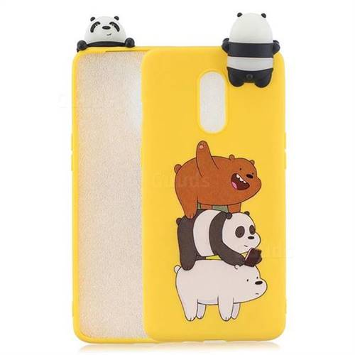 Striped Bear Soft 3D Climbing Doll Soft Case for OnePlus 7