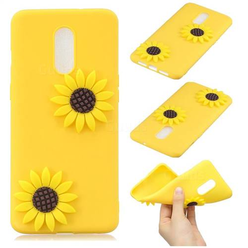 Yellow Sunflower Soft 3D Silicone Case for OnePlus 7