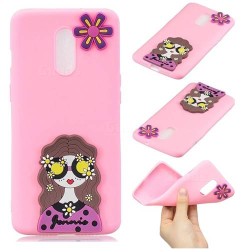 Violet Girl Soft 3D Silicone Case for OnePlus 7