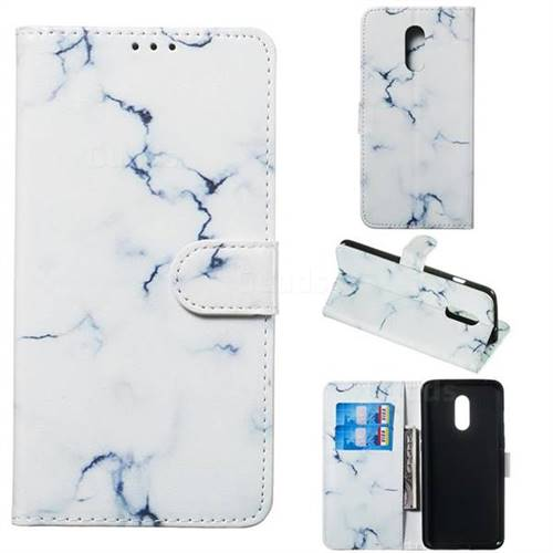 Soft White Marble PU Leather Wallet Case for OnePlus 7