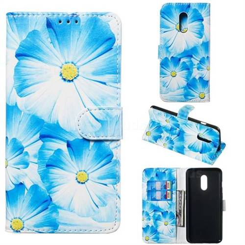 Orchid Flower PU Leather Wallet Case for OnePlus 7