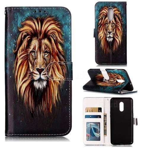 Ice Lion 3D Relief Oil PU Leather Wallet Case for OnePlus 7