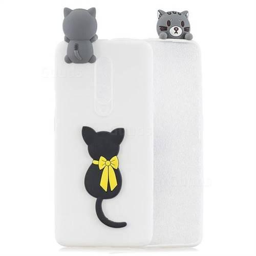 Little Black Cat Soft 3D Climbing Doll Soft Case for OnePlus 7 Pro
