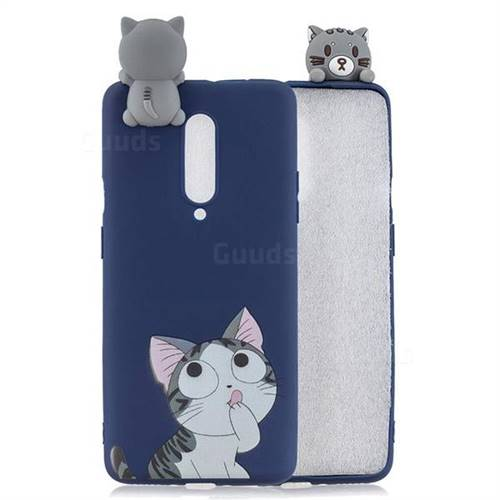 Big Face Cat Soft 3D Climbing Doll Soft Case for OnePlus 7 Pro
