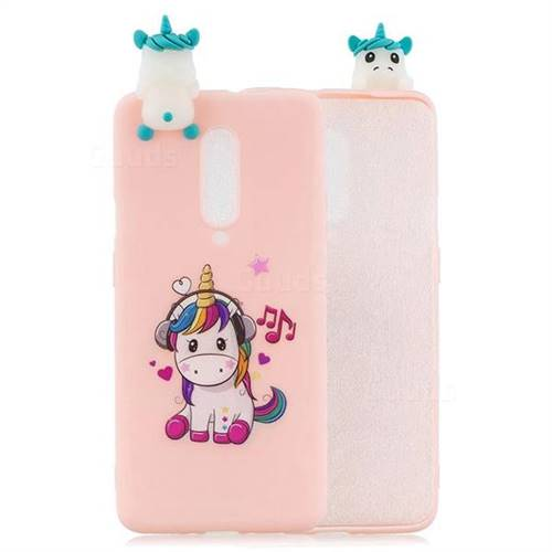 Music Unicorn Soft 3D Climbing Doll Soft Case for OnePlus 7 Pro